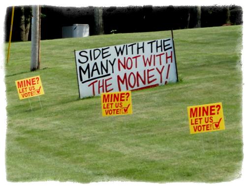 """Mine? Let us Vote!"" Glenwood Area Residents Want Referendum on Frac Sand"